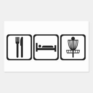 、ディスクゴルフステッカー食べて下さい、眠らせて下さい 長方形シール