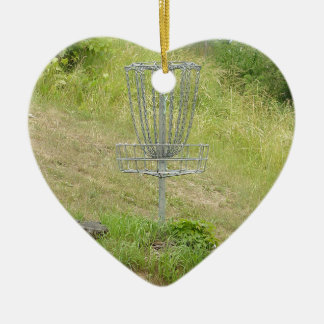ディスクゴルフバスケットの鎖 セラミックオーナメント