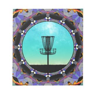 ディスクゴルフ抽象芸術のバスケット3 ノートパッド