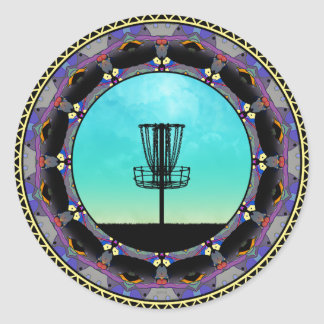 ディスクゴルフ抽象芸術のバスケット3 ラウンドシール