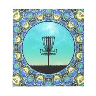 ディスクゴルフ抽象芸術のバスケット5 ノートパッド