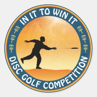 ディスクゴルフ競争 ラウンドシール