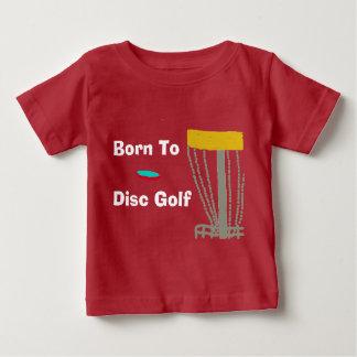 ディスクゴルフTシャツへの生まれるの ベビーTシャツ