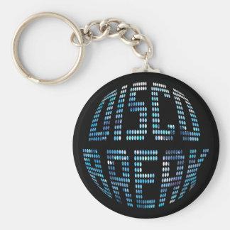 ディスコの壊れ目の青Keychain キーホルダー