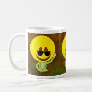 ディスコの熱のスマイリーの人 コーヒーマグカップ