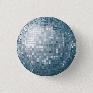 ディスコの球の銀ボタン 缶バッジ