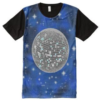 ディスコの球 オールオーバープリントT シャツ
