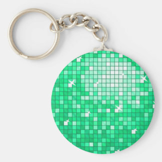 """ディスコは円形""""ヒスイ""""のkeychainをタイルを張ります キーホルダー"""