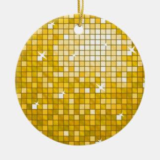 """ディスコは円形""""金ゴールド""""のオーナメントをタイルを張ります セラミックオーナメント"""