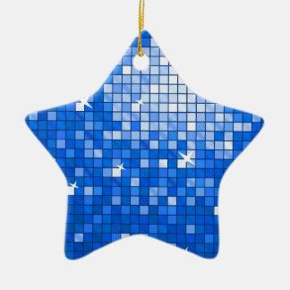 ディスコは濃紺のオーナメントの星をタイルを張ります セラミックオーナメント