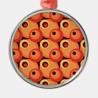 ディスコを重複する70年代はオレンジおよびあずき色を一周します メタルオーナメント
