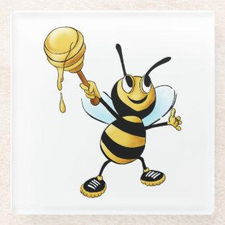 ディッパーを遅らせている微笑の漫画の蜂蜜の蜂 ガラスコースター