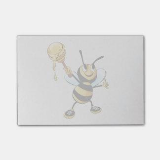 ディッパーを遅らせている微笑の漫画の蜂蜜の蜂 ポストイット