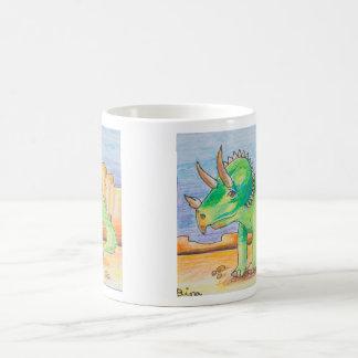 ディナの芸術のトリケラトプスのジャンボマグ コーヒーマグカップ