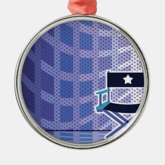 ディレクター/星の椅子のベクトル メタルオーナメント
