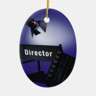 ディレクターSlate、椅子及びステージライトの セラミックオーナメント