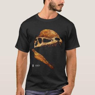 ディロフォサウルスのスカルのプロフィール Tシャツ