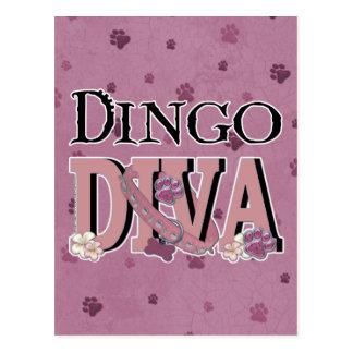 ディンゴの花型女性歌手 ポストカード