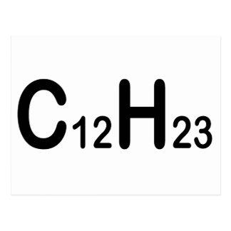ディーゼル燃料の化学式 ポストカード