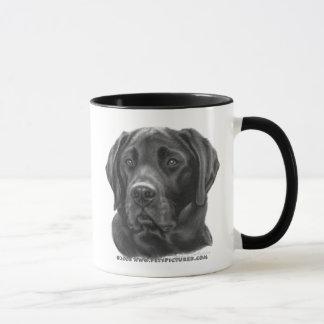 ディーゼル、黒いラブラドル・レトリーバー犬 マグカップ