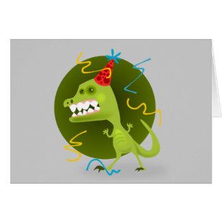 ディーノのロックの恐竜の誕生会 カード