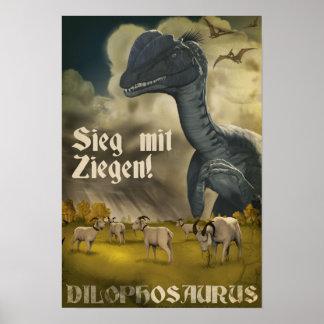 ディーノの攻撃開始日: ディロフォサウルス ポスター