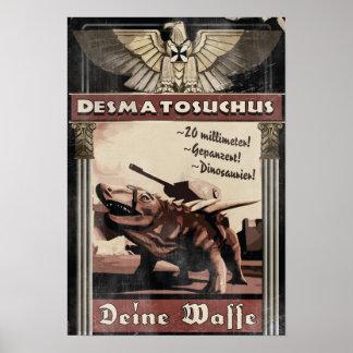 ディーノの攻撃開始日: Desmatosuchus ポスター