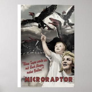 ディーノの攻撃開始日: Microraptor ポスター
