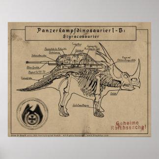 ディーノの攻撃開始日: Styracosaur ポスター