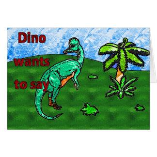 ディーノの誕生日 カード