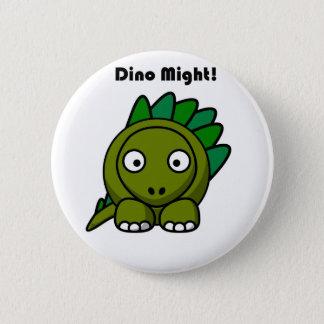 ディーノはステゴサウルスの漫画を緑化するかもしれません 5.7CM 丸型バッジ