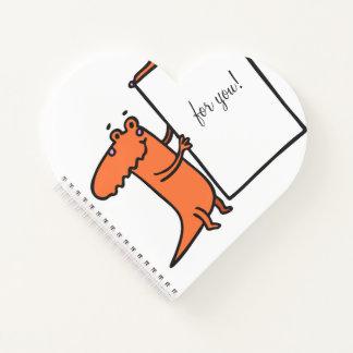 ディーノ愛日記のかわいらしいハートのノート ノートブック