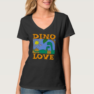 ディーノ愛- I愛恐竜はnのワイシャツをティーにのせます Tシャツ