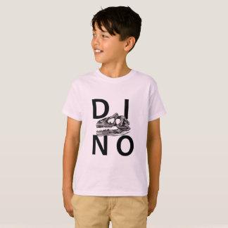 ディーノ-淡いピンクの子供のHanes TAGLESS®のTシャツ Tシャツ