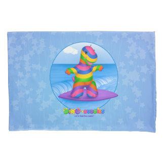 ディーノBuddies™の枕場合Boのサーフィン(青い) 枕カバー