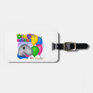 ディーノBuddies™の荷物のラベル-バックスターw/Balloons ラゲッジタグ