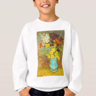 デイジーおよびアネモネのプリントが付いているつぼ スウェットシャツ