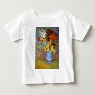 デイジーおよびアネモネ-ゴッホが付いているつぼ ベビーTシャツ