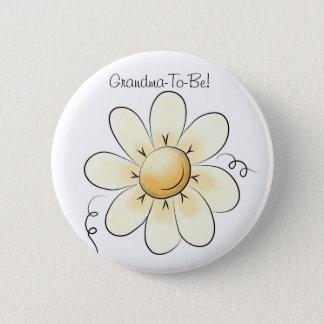 デイジーによっては祖母ボタンが開花します 5.7CM 丸型バッジ