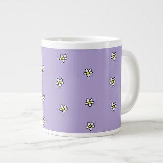 デイジーによっては紫色パターンが開花します ジャンボコーヒーマグカップ