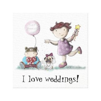 デイジーのカップケーキの結婚式! キャンバスプリント