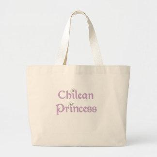 デイジーのチリ人のプリンセス ラージトートバッグ