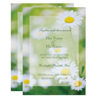 デイジーのデイジーの花の花の夏の結婚式 12.7 X 17.8 インビテーションカード