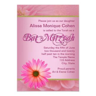 デイジーのバルミツワーのピンクの招待状 カード