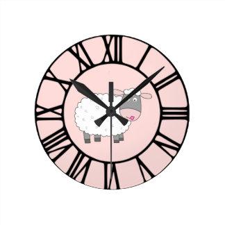デイジーのヒツジ ラウンド壁時計