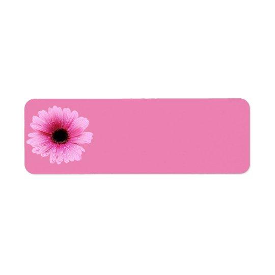 デイジーのピンク 返信用宛名ラベル