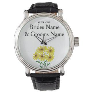 デイジーのモダンでシンプルでエレガントな結婚式のアイディア 腕時計