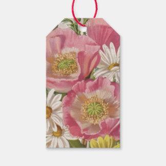 デイジーのヴィンテージの花束 ギフトタグ