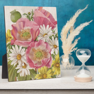 デイジーのヴィンテージの花束 フォトプラーク