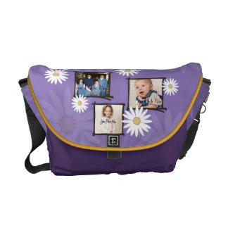 デイジーの写真フレーム メッセンジャーバッグ